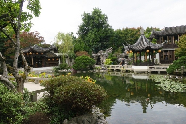 The Lan Su Chinese Garden, Portland, Oregon by Victor Block