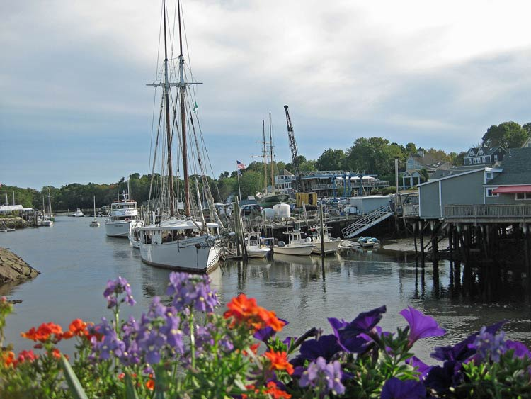 Harbor scene in Kennebunkport, Maine. Photo by Pat Woods