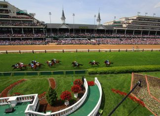 Although it's best known for the Kentucky Derby, Churchill Downs also hosts a number of other thoroughbred races throughout its racing season.