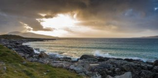 Sunset at a beach on the Isle of Lewis and Harris, one of Scotland's Outer Hebrides Islands. Flickr/Chris Combe
