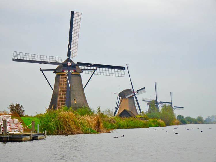The historic windmills at Kinderdijk are a UNESCO World Heritage site. Photo by Janna Graber