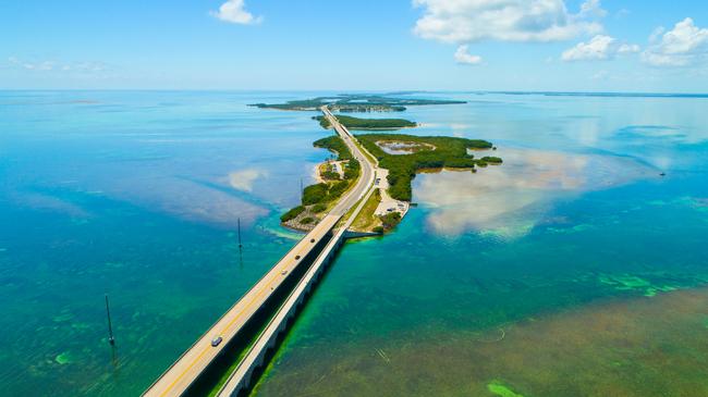 7 Mile Bridge, Aerial View. Photo by Sergey Chernyaev at Dreamstime.com