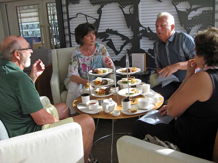 Afternoon tea on the Viking Sea is a popular option. Photo by Pat Woods