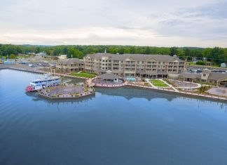 The Harbor Hotel on Lake Chautauqua in Celoron, NY. Photo Courtesy of Chautauqua County Visitors Bureau