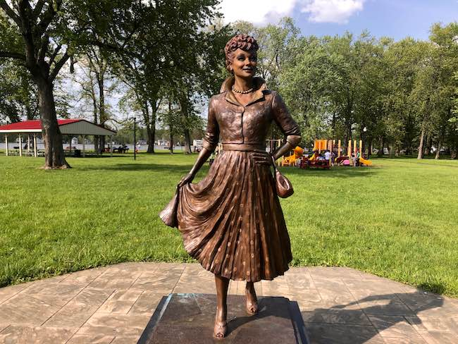 Statue of Lucille Ball by Carolyn Palmer in Lucille Ball Park. Photo by Claudia Carbone