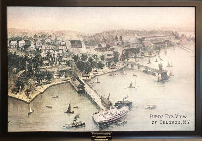 Vintage photo of Celoron Park in Chautauqua Harbor Hotel