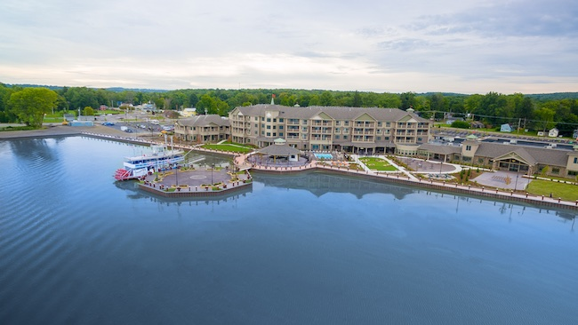 The Harbor Hotel on Lake Chautauqua in Celoron, NY. Photo Courtesy of Chautauqua Harbor Hotel