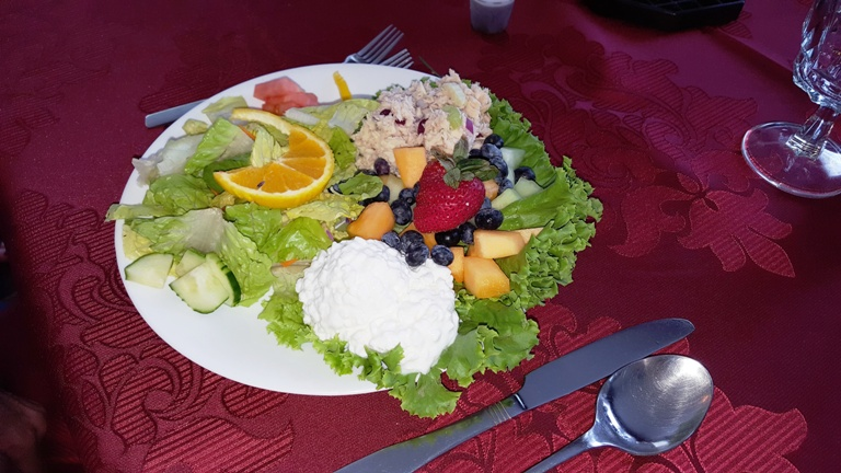 Hearty Luncheon Plate at Deerfield Health Resort. Photo by Fyllis Hockman
