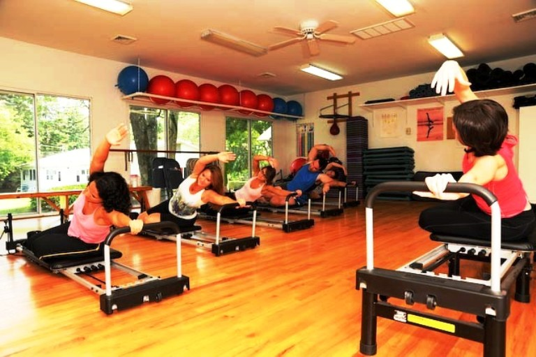 Pilates Reformer Class at Deerfield Health Resort. Photo courtesy of Deerfield