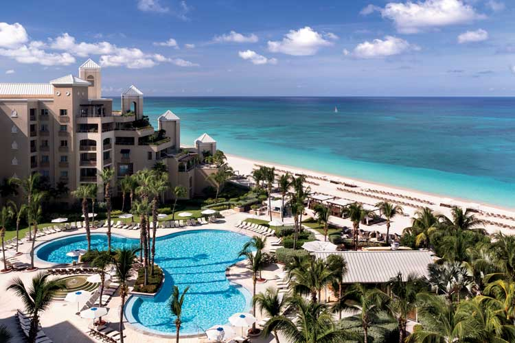 The Ritz-Carlton Grand Cayman is located on the dazzling white sands of Seven Mile Beach. Photo by Ritz Carlton Grand Cayman