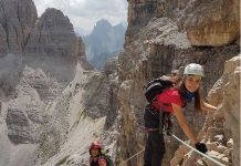 Via Ferrata in Monte Paterno.
