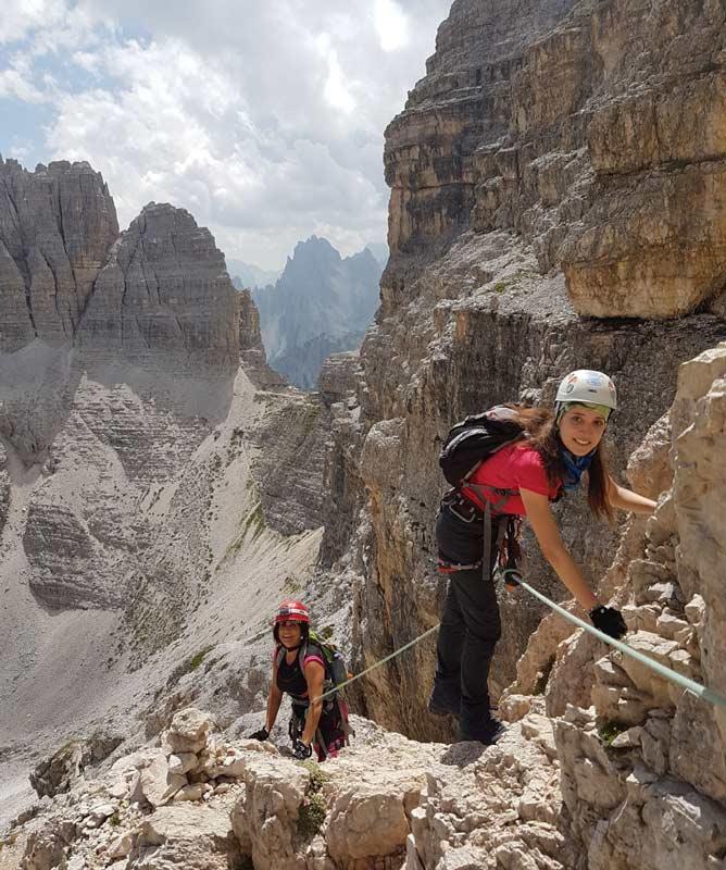 Via ferrata in Monte Paterno. Photo by Enrico Geremia