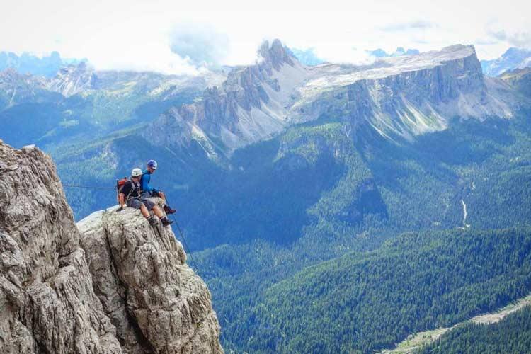 Via ferrata near Cortina d'Ampezzo. Photo by Carlo Cosi