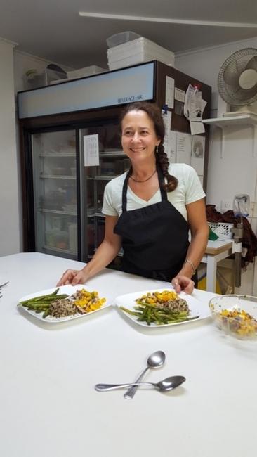 Cooking Class at Deerfield Health Resort. Photo by Fyllis Hockman