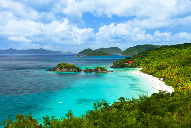 Trunk Bay on St. John, a typical magnificent U.S. Virgin Islands beach By Alexander Shalamor/Dreamstime.com