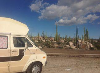 campervan-roadtrip-canada to mexico-ensenada-mexican border