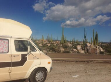 campervan-roadtrip-canada to mexico-ensenada-mexican border