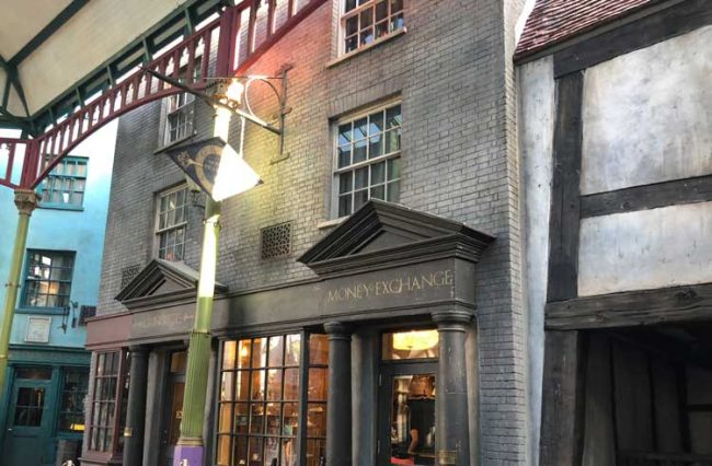 Diagon Alley at the Wizarding World of Harry Potter. Photo: Liana Moore/ Insider Families