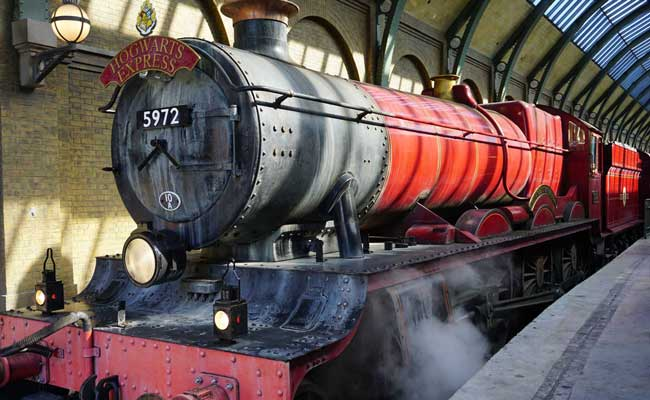 The Hogwarts Express is a train leaving from Platform 9 3/4 going to Hogswarts School of Witchcraft and Wizardry. Photo by Liana Moore/Insider Families