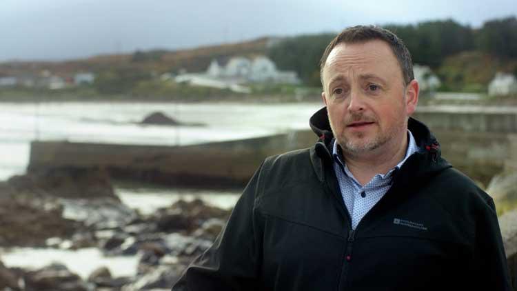 Adrian Begley of the Arranmore Town Council.
