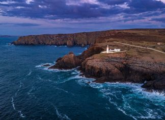 The island of Arranmore, off the coast of Ireland