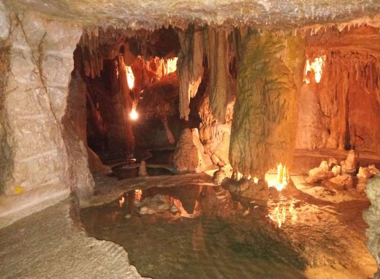 Part of the cave system in Mira de Aire Portugal