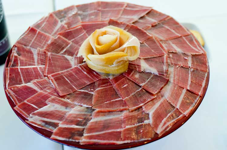 Cured Iberian acorn-fed ham is a specialty in Extremadura. Photo by Extremadura tourism
