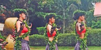 Hawaiian hula competition in Kauai. Photo by Janna Graber