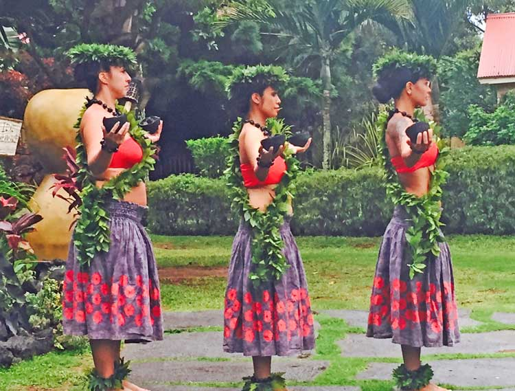 Hawaiian hula competition in Kauai. Photo by Janna Graber