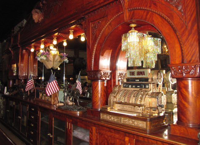 The Irma cherrywood bar. Photo courtesy of Park County Travel Council