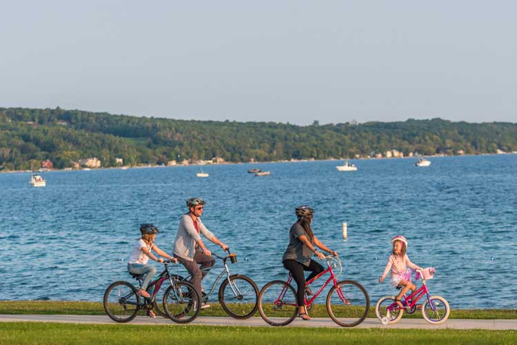 Biking is a popular activity in Traverse City, Michigan. Photo by Traverse City Tourism