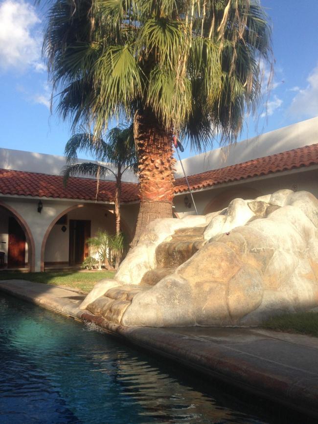 hotel mision, catavina, baja california, from canada to mexico- road trip- hotel pool