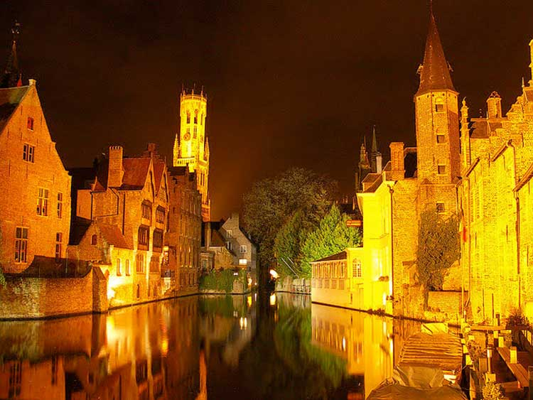 Take a canal tour in Bruges for a whole different view of the city.