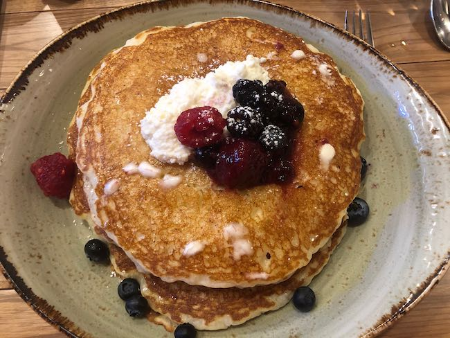 Ricotta pancakes at Vista Montagne. Photo by Claudia Carbone