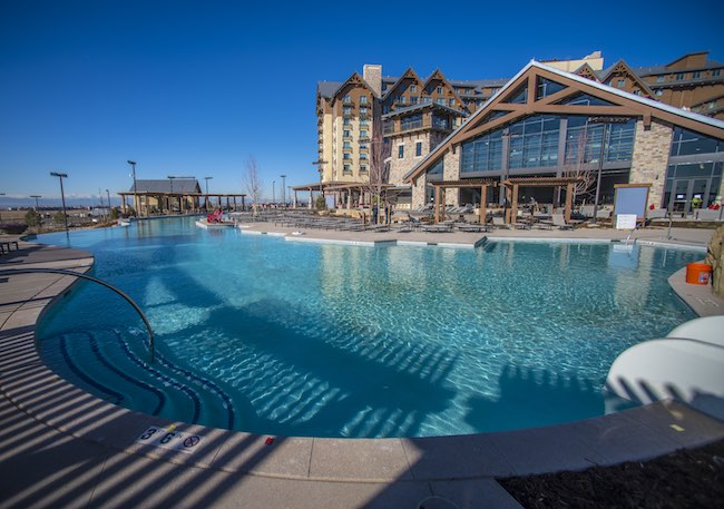 Outdoor pool at Gaylord Rockies. Photo courtesy of Gaylord Rockies