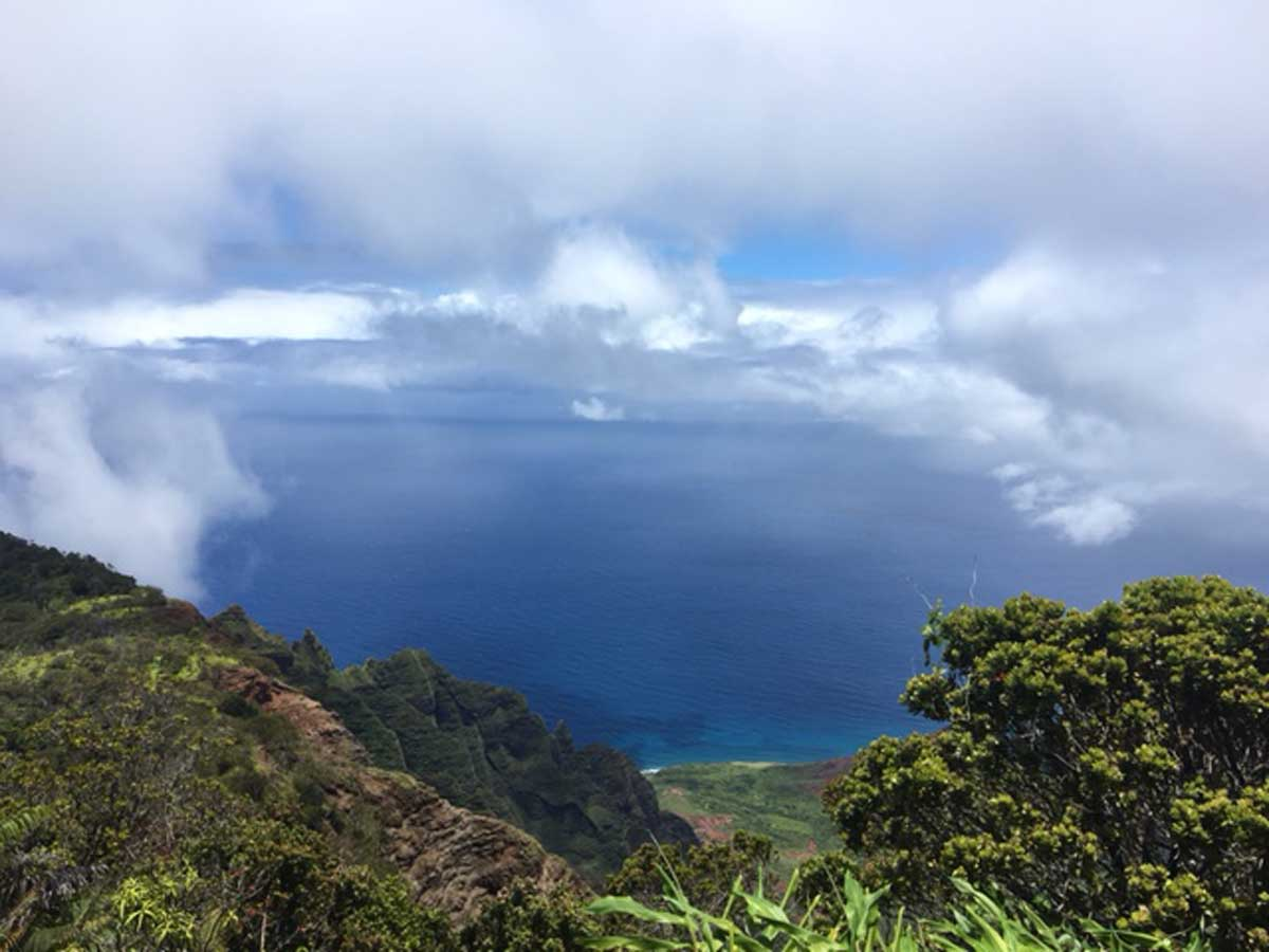 Looking over the coastline in Kauai. Photo by Janna Graber