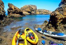 Kayaking on Santa Cruz Island in California. Photo by Rina Nehdar