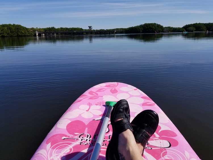 Paddle boarding near Weeden Island