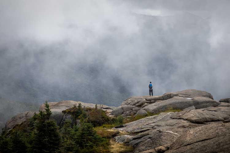 Summit of Cascade Peak in the Adirondack Mountains.