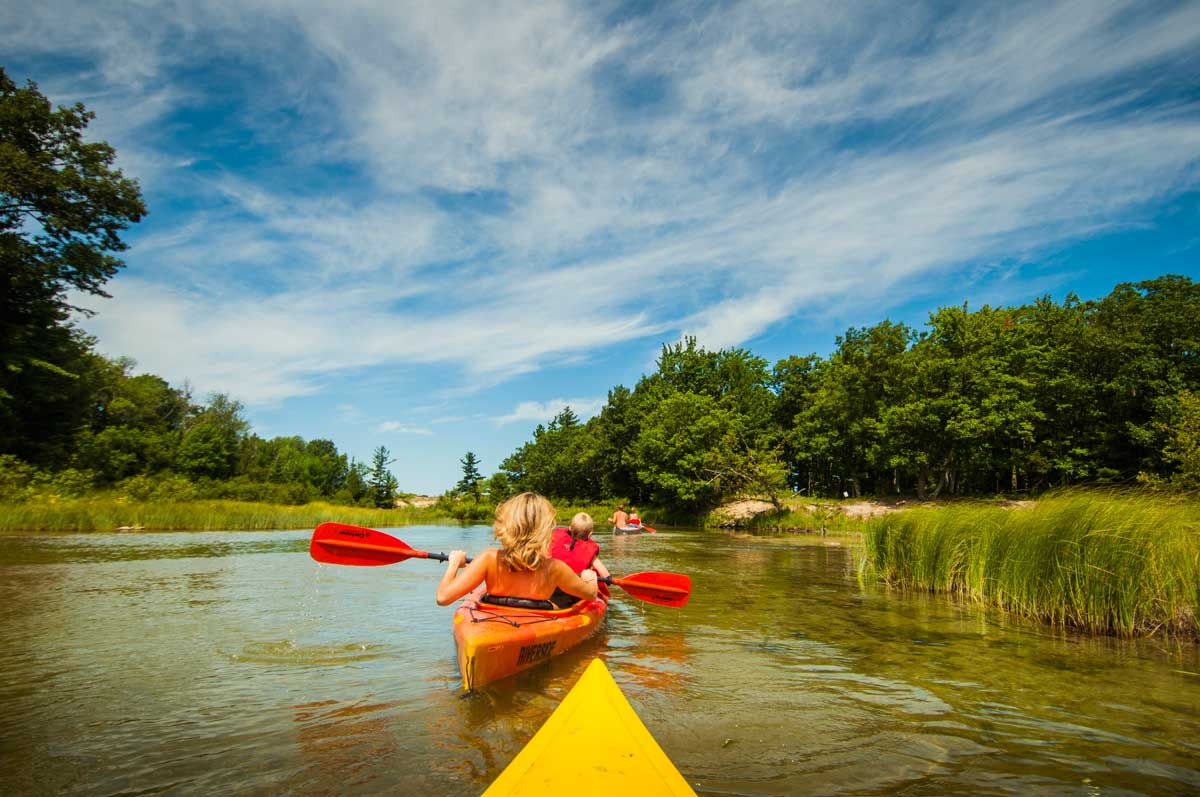Kayaking in Traverse City