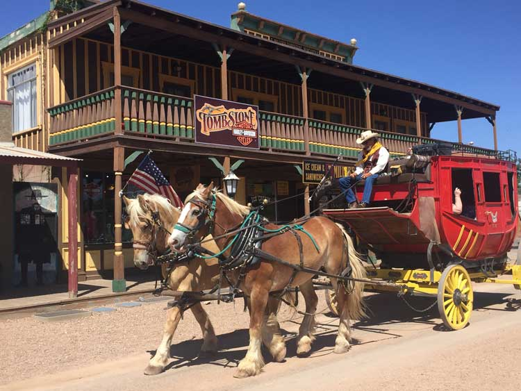 Tombstone, Arizona is the sight of the Gunfight in the OK Corral