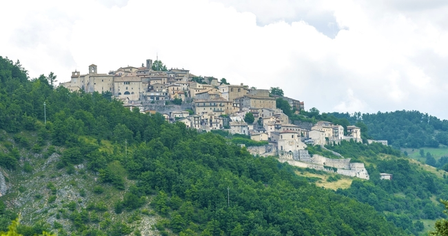 A typical hillside village in Umbria. Photo by Victor Block