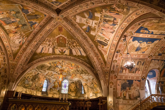 A ceiling fresco in the Basilica of St. Francis of Assisi. Photo by Zdenek Matyas/Dreamstime.com