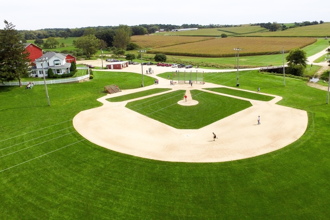 "Fans of ""Field of Dreams"" still visit its filming location to run around the bases. Photo by David Carter/The Visual Playground"