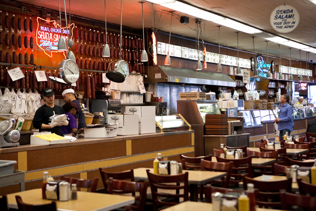 "A memorable scene in ""When Harry Met Sally"" was filmed at Katz's Delicatessen in New York City. Photo from Katz's Delicatessen"