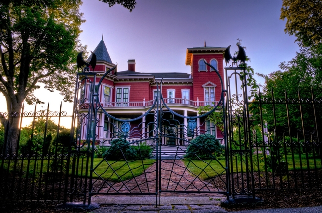 Steven King's House looks frightening enough to be included in a movie. Photo from Maine Office of Tourism
