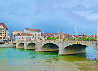 Basel, Switzerland is located on the Rhine River