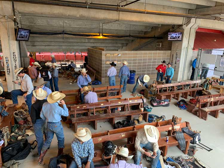 Contestants ready for the rodeo