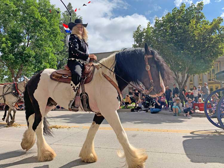 Riders in the Cheyenne Frontier Days parade