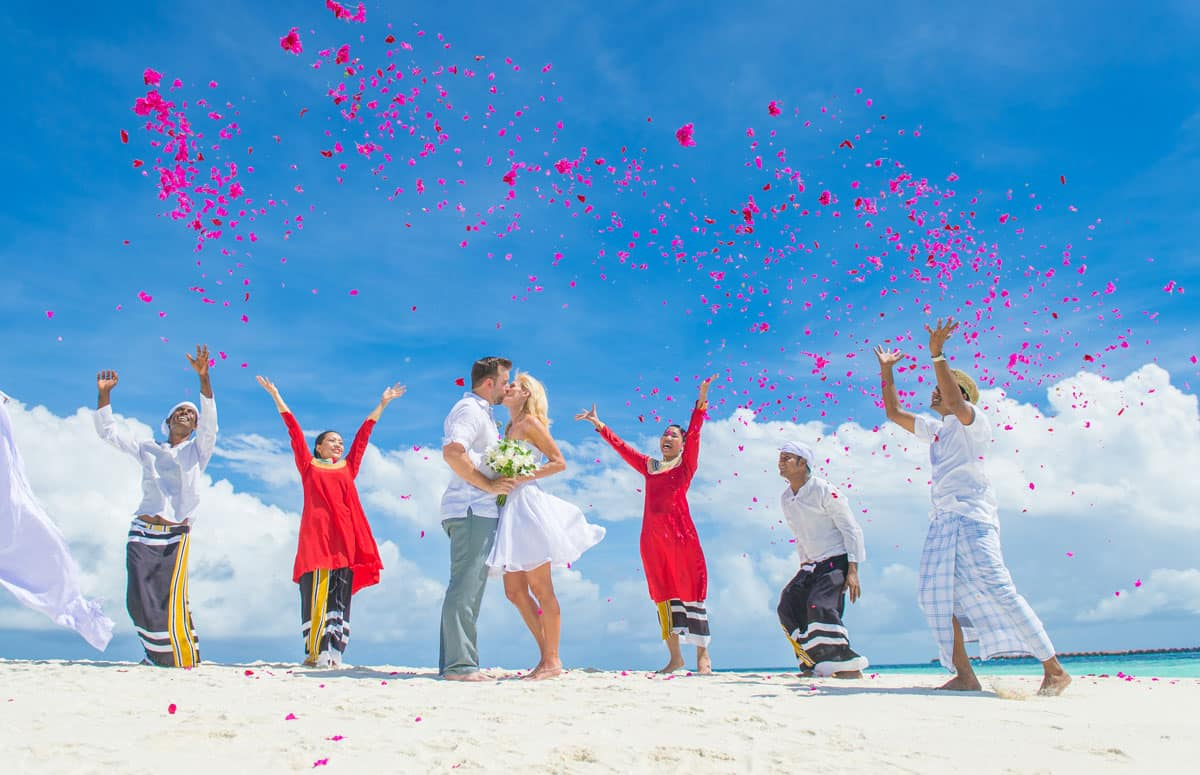 Getting married in the Maldives at Baros